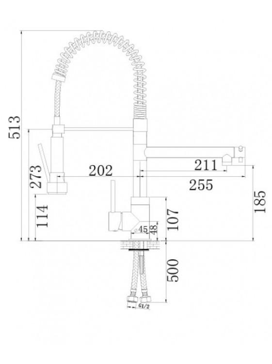 BARENO PLUS Professional Sink Mixer 460mm(H)-PSM181-1