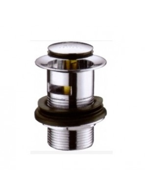 BARENO 32mm Spring Waste W Overflow; Brass Chrome I6512