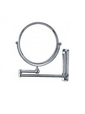 "BARENO Adj. Cosmetic Mirror; Brass Chrome CM-02-8"""