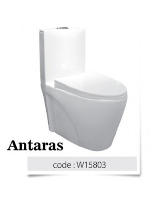BARENO Antaras 3/6L One Piece Wash Down WC With UF Seat Cover HO180mm W15803