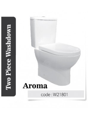 BARENO Aroma 3/6L C/Coupled Wash Down WC HO 180mm W21801