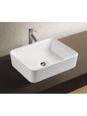 BARENO Ceramic Counter Top Basin (WHITE)-K58