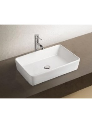 BARENO Ceramic Counter Top Basin (WHITE)-K58A