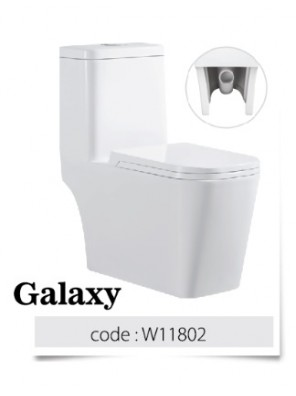 BARENO Galaxy 3/6L One Piece Wash Down WC BO 250mm  W11802