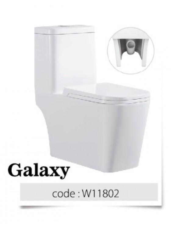 BARENO Galaxy 3/6L One Piece Wash Down WC HO 180mm W11802