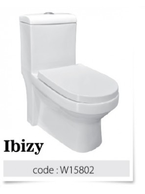 BARENO IBIZY 3/6L One Piece Washdown WC BO 250mm W15802