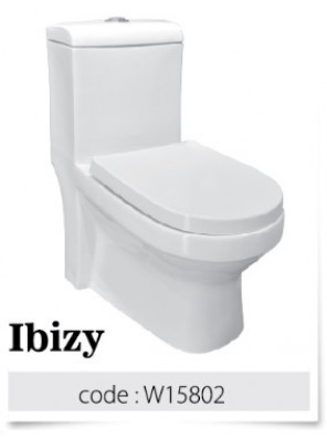 BARENO IBIZY 3/6L One Piece Washdown  WC HO 180mm W15802