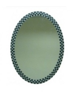 BARENO Oval Bathroom Mirror 600x800mm B-G3915