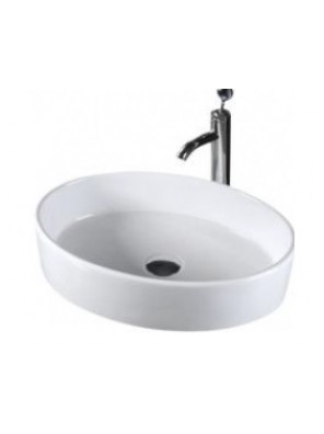 BARENO Oval Counter Top Basin (White) K31