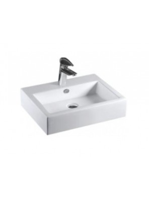 BARENO Rectangular Counter Top Basin (White) K01