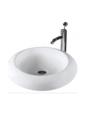 BARENO Round Counter Top Basin (White) K64