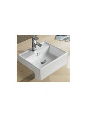 BARENO Semi Recessed Basin Size: 410x410x140mm (White) W3303