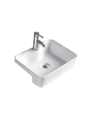 BARENO Semi Recessed Basin Size:490x390x130mm (White) W3301
