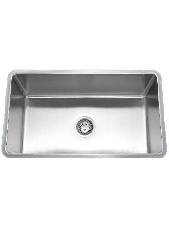 BARENO SS 304 1 Bowl Undermount Sink (1.5mmthk) UM3058