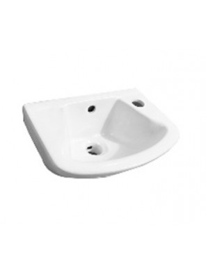 BARENO Wall Hung Basin Size: 350x260x170mm (White) W3004