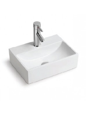 BARENO Wall Hung Basin Size: 400x300x120mm (White) W3001