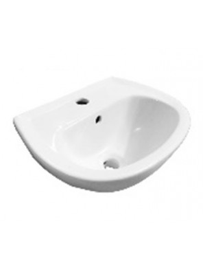 BARENO Wall Hung Basin Size: 455x325x180mm (White) W3003
