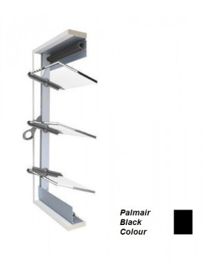 BREEZEWAY 15Blade(Blk)102mm Palmair Louvre Frame; 1360mm (H)