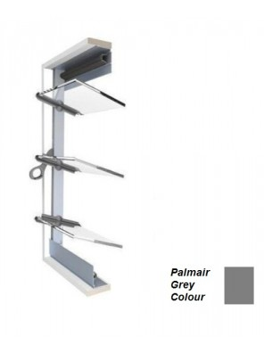 BREEZEWAY 15Blade(Gy)102mm Palmair Louvre Frame; 1360mm (H)