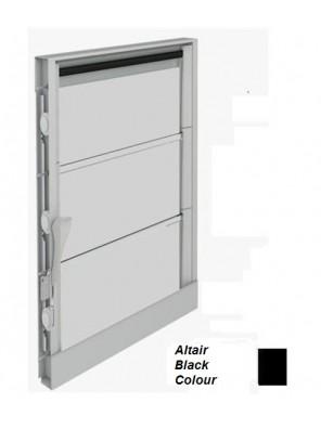 BREEZEWAY 13Blade(Blk)102mm Altair Louvre Frame; 1210mm (H)