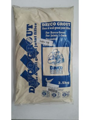 DAVCO Colour Grout Joint Filler 3.5kg (114) Ivory
