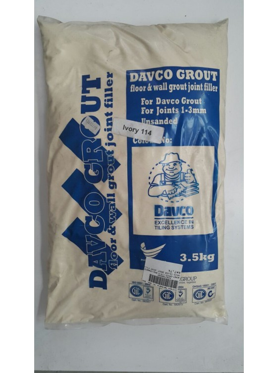 Davco Colour Grout Joint Filler 3 5kg 114 Ivory