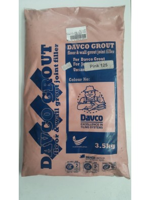 DAVCO Colour Grout Joint Filler 3.5kg (125) Pink