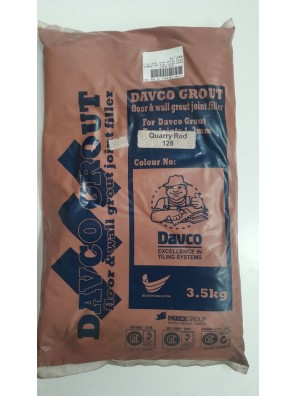 DAVCO Colour Grout Joint Filler 3.5kg (128) Quarry Red