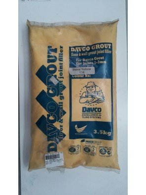 DAVCO Colour Grout Joint Filler 3.5kg (138) Steve Yellow