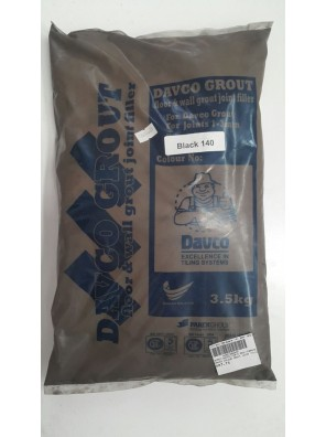 DAVCO Colour Grout Joint Filler 3.5kg (140) Black