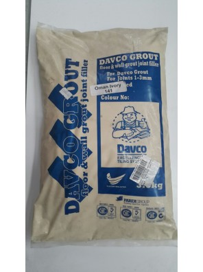 DAVCO Colour Grout Joint Filler 3.5kg (141) Oman Ivory