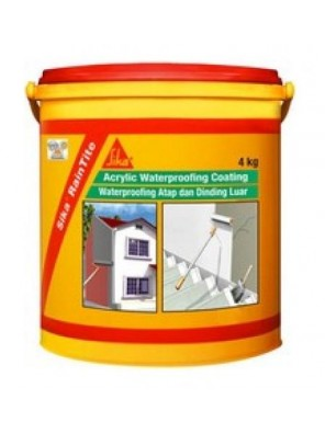 SIKA Raintite 4kg Acrylic Waterproofing Coating Transparent