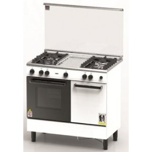 ZANUSSI 90CM Free Standing 4 Gas Burner & Gas Oven - ZCG940W