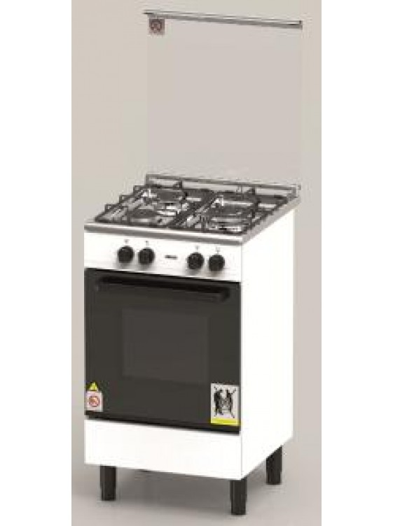ZANUSSI 60cm Free Standing 3 Gas Burner & Gas Oven -ZCG530W