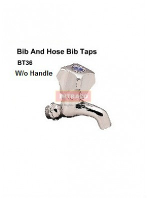 "DOE BT36 - 1/2"" BOOSTER BIB TAP BRIGHT CHROME PLATED (W/O HANDLE)-DOE"