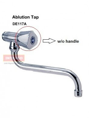 "DOE DE117A - AMALI WALL MOUNTED SWIVEL TAP CW 8"" SWIVEL ANTI SPLASH AERATOR OUTLET (W/O HANDLE)"