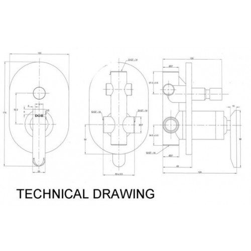 doe single lever concealed bath shower mixer ir 0208 Shower Pan Installation Diagram