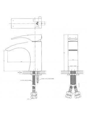 "DOE  ""Doff"" Luxury Single Lever Basin Mixer DF 1586"