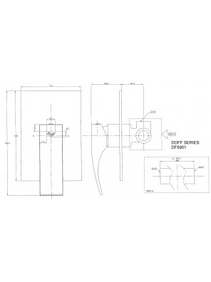 DOE  Luxury Concealed Shower Mixer (Without Shower) DF 5901