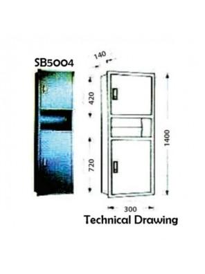 DOE S/S Paper Towel Dispenser  Receptacle-Recessed SB5004