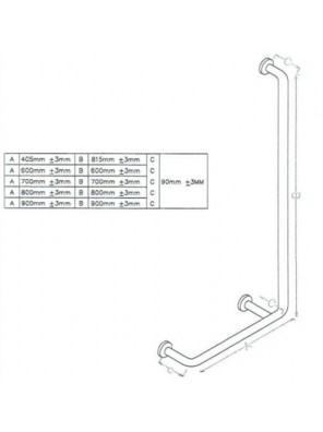 DOE  Shower & Bathroom Grab Bar DSM-11-3-A405B815C90