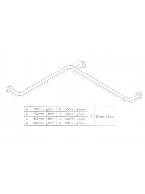 DOE  Shower & Bathroom Grab Bar DSM-16-3-A900B900C90