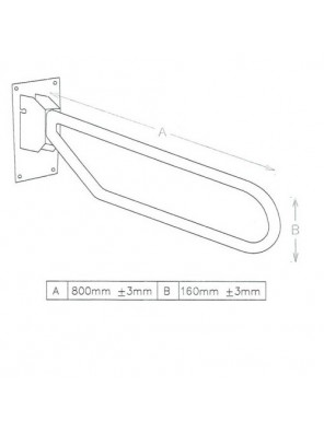 DOE  Toilet Grab Bar DSM-3-2-A800B160