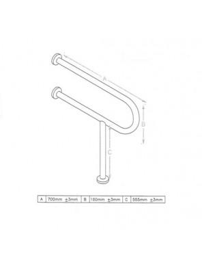 DOE  Toilet Grab Bar DSM-6-3-A700B160C555