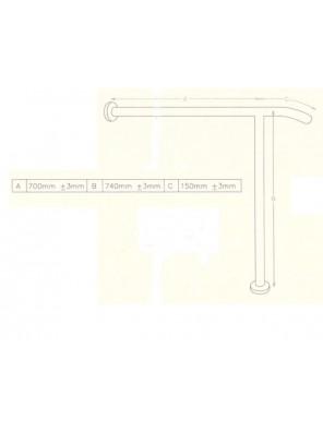 DOE  Toilet Grab Bar DSM-7-3-A700B740C150