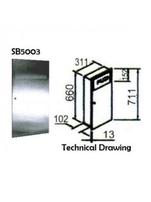 DOE  Waste Receptacle ;Dimensions: 711 X 311 X 102mm SB5003
