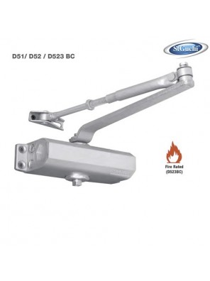 ST.GUCHI Door Closer H/Duty (65kg)(Silver) D-52 / SGDC-52