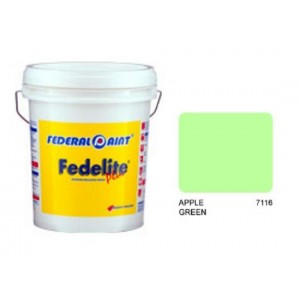 FEDERAL PAINT Fedelite Plus Paint-Apple Green;7L;Code: 7116