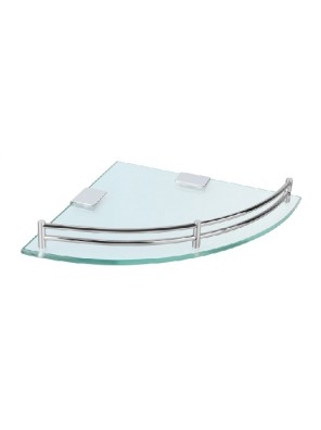 ROCCONI 245mm Corner Glass Shelf RCN 2502R