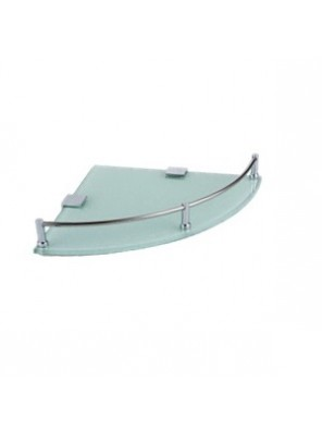 ROCCONI Corner Glass Shelf 245mm White RCN 620WR